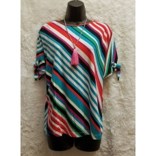 A La Carte Short Sleeve Stripe Top