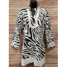 Erma's Closet Black and White Zebra Tunic