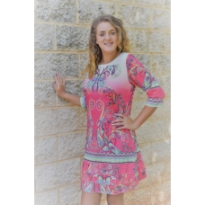 Erma's Closet Watermelon Print Carwash Dress