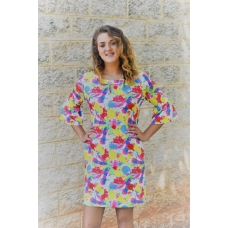 Erma's Closet Pink, Blue, & Yellow Paint Splash Dress