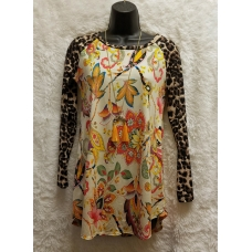 Fashion Shirt with Leopard Sleeves