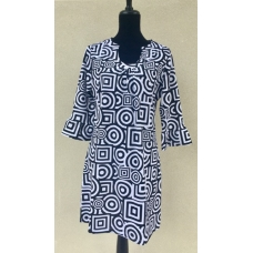 Erma's Closet Black & White U-Neck Dress