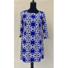 Aryeh Royal Blue and White Print Dress