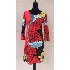 Aryeh Red & Black Paisley Dress