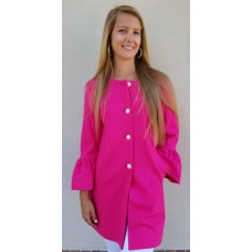 Erma's Closet Hot Pink Zara Jacket with Pearl and Crystal Buttons