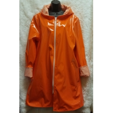 Shane Lee Orange Light Weight Rain Coat