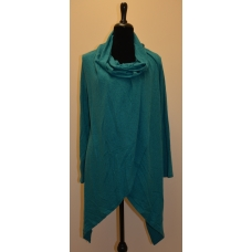 Papillon Teal Drape Neck Top