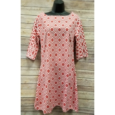 Erma's Closet Red and White Print Dress