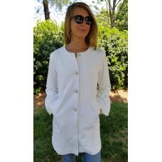 Erma's Closet Cream Zara Jacket with Pearl and Crystal Buttons